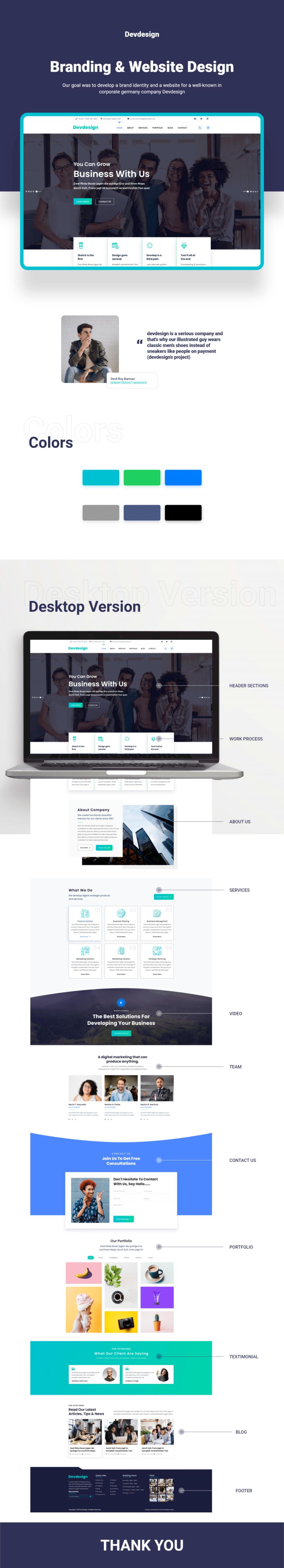 Devdesign Landing Page Website Adobe