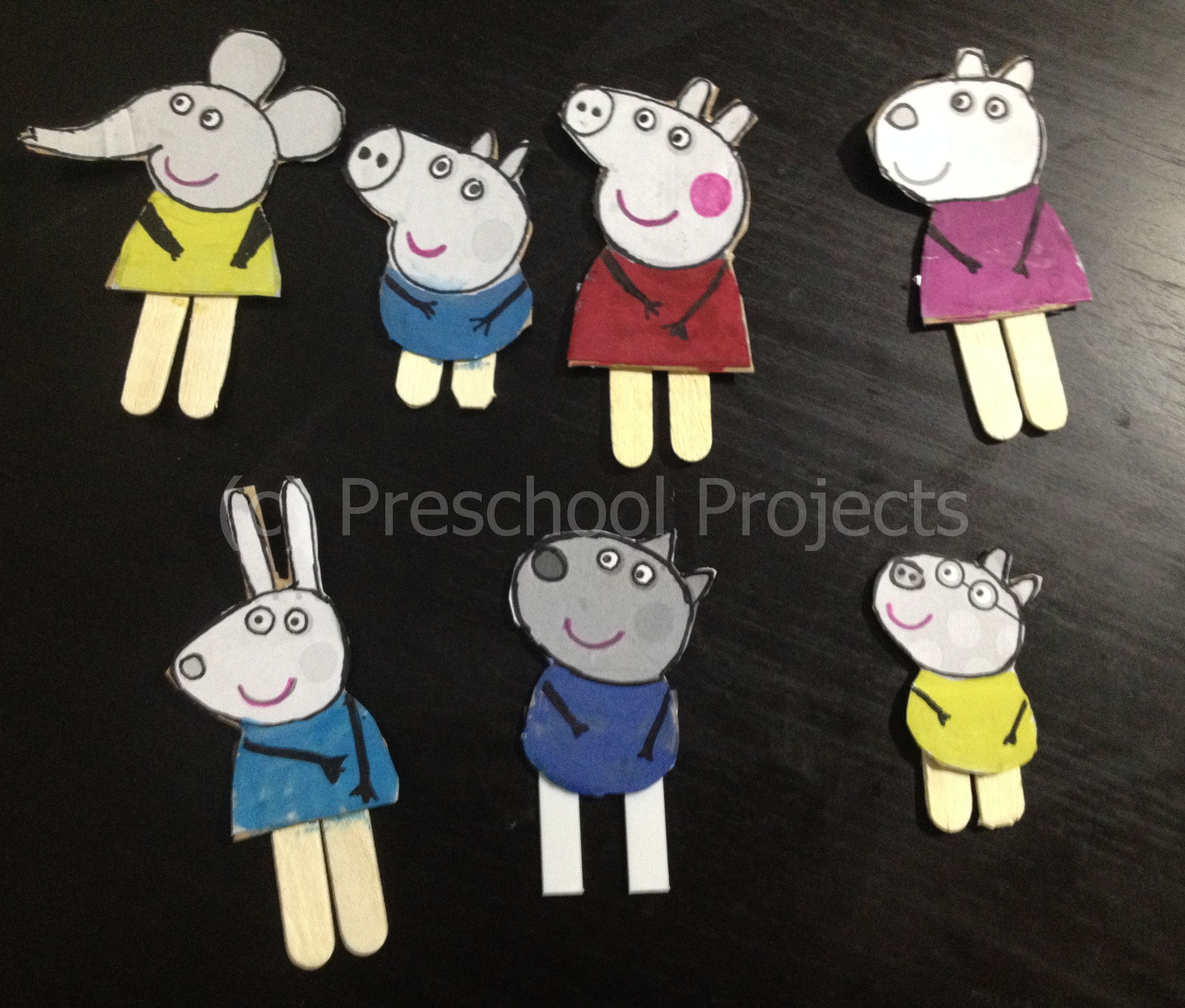 Pe peppa pig online coloring pages - Peppa Pig Craft Puppets From Printables
