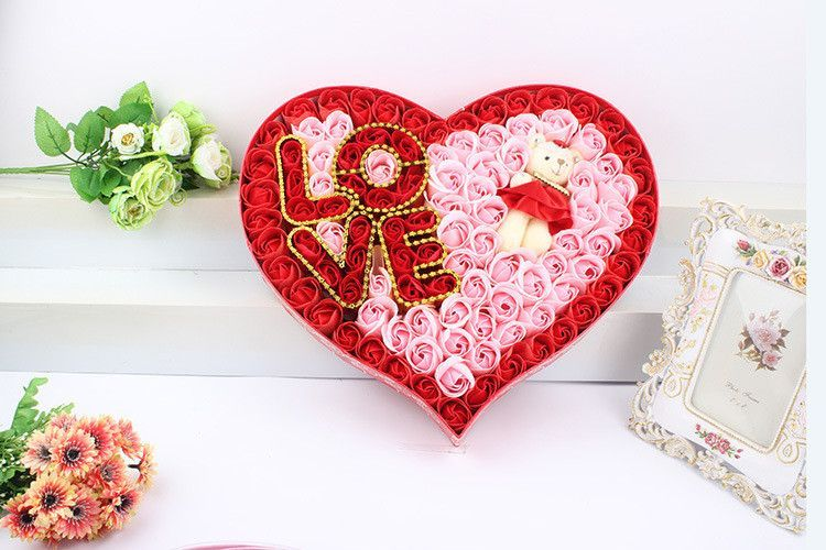 Love with Bear Soap Rose box VALENTINES GIFT