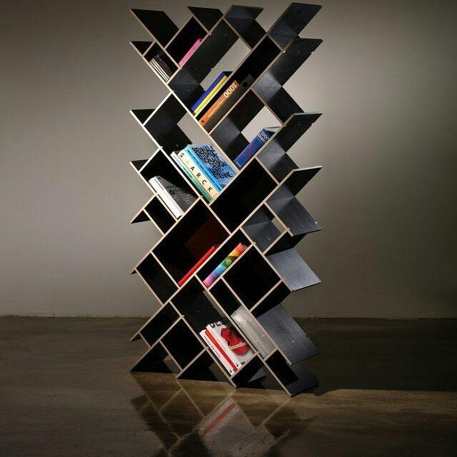 In Diagonal Library Dvd Rack Book Racks Unique Bookshelves Bookshelf Design Bookcases