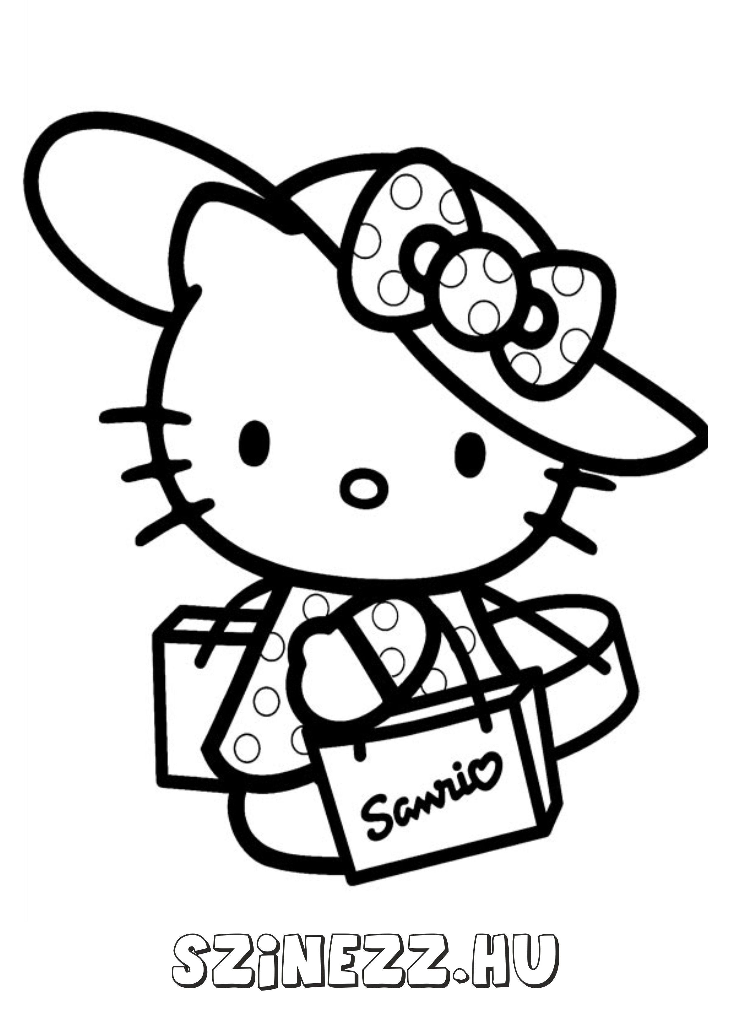 """Képtalálat a következőre: """"hello kitty színező""""   Gyerekeknek ..."""