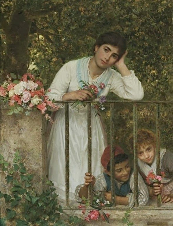 Sophie Anderson - Gathering bouquets