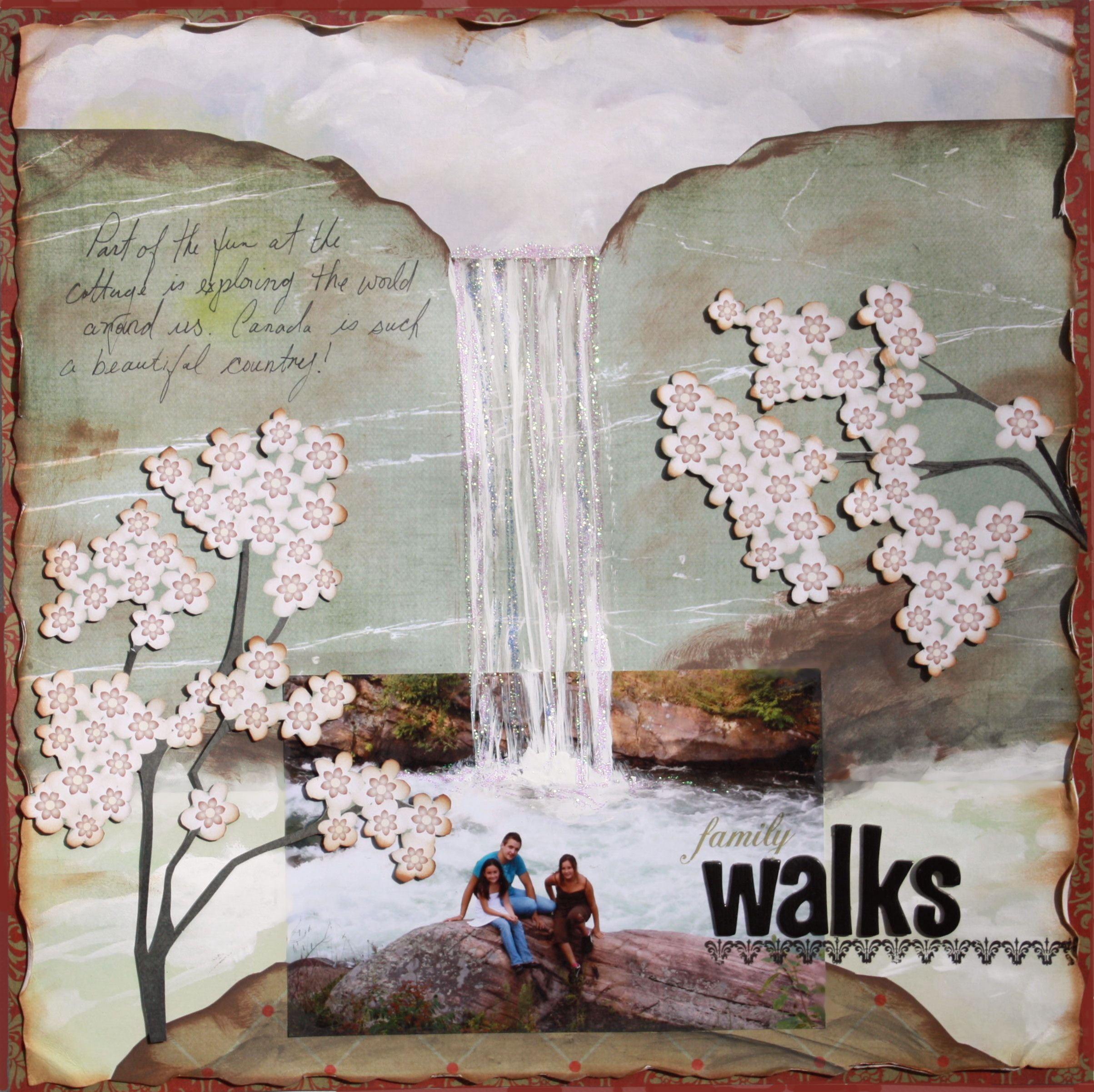 How to make a romantic scrapbook - I Tried Something A Little Different With The Main Kit From My Creative Scrapbook This Month I Thought I D Try And Make A Painting Of Sorts Using A Variety