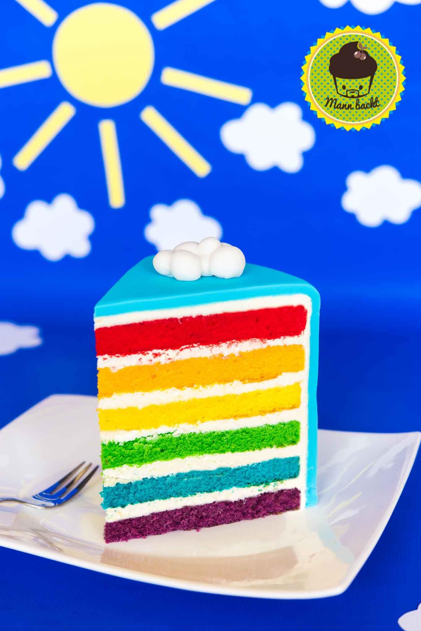 Rainbow Cake So Backt Ihr Euch Die Perfekte Bunte Lebensfreude