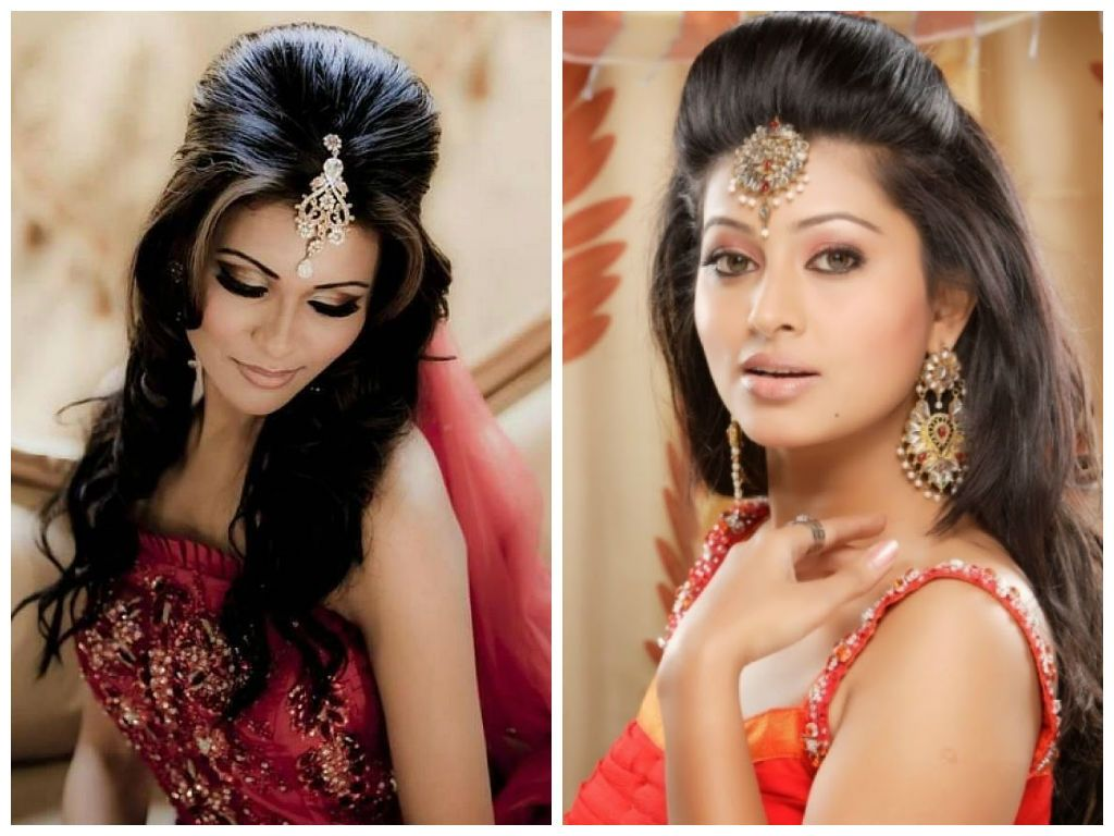 Indian Wedding Hairstyle Inspiration : Simple Hairstyle