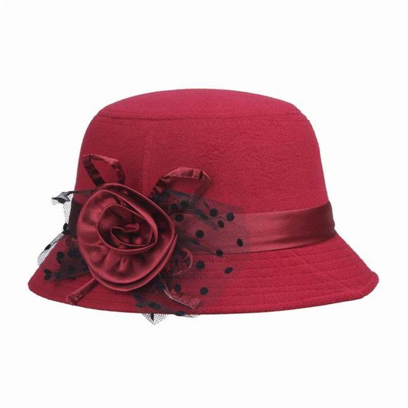 Encontrar Más Fedoras Información acerca de Elegantes sombreros para mujer  Dome sombrero de Fedora Multi Color d38c86e8c61