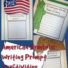 American Symbols {Statue of Liberty, American Flag, Mount Rushmore} Writing Prompt Craftivities (86 pages)--a fun way to add a craft and a writing prompt...