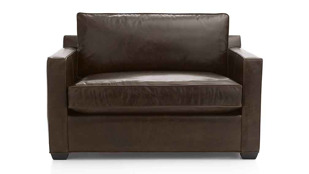 Davis leather twin sleeper sofa chair and a half tw in