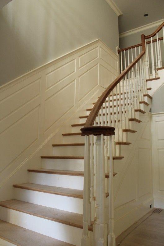 flared stair photos | Box Newel | Stairs, Stair railing ...