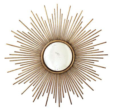 This beautiful Sunburst™ Antiqued Gold Wall Mirror is a perfect depiction of the…