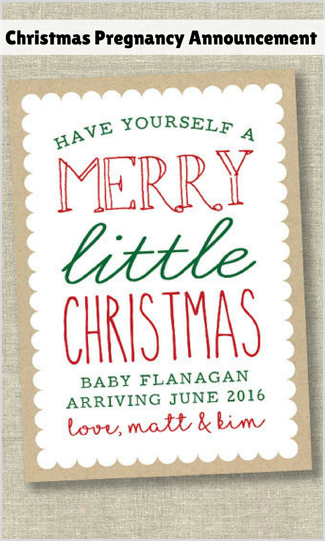 Christmas pregnancy announcement card, digital print. #affiliate ...