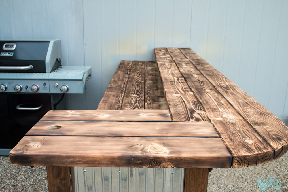 How To Do A Torched Wood Finish Outdoor Wood Table Wood Table