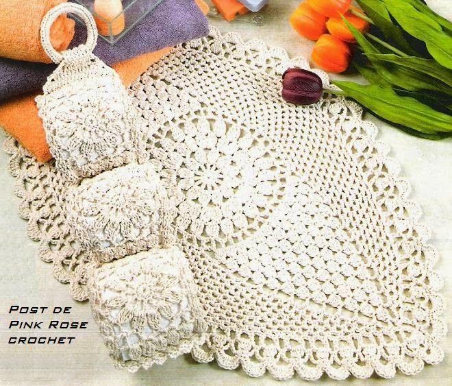 Inspirações de Croche com Any Lucy: Jogo de Banheiro | Вязаные ...