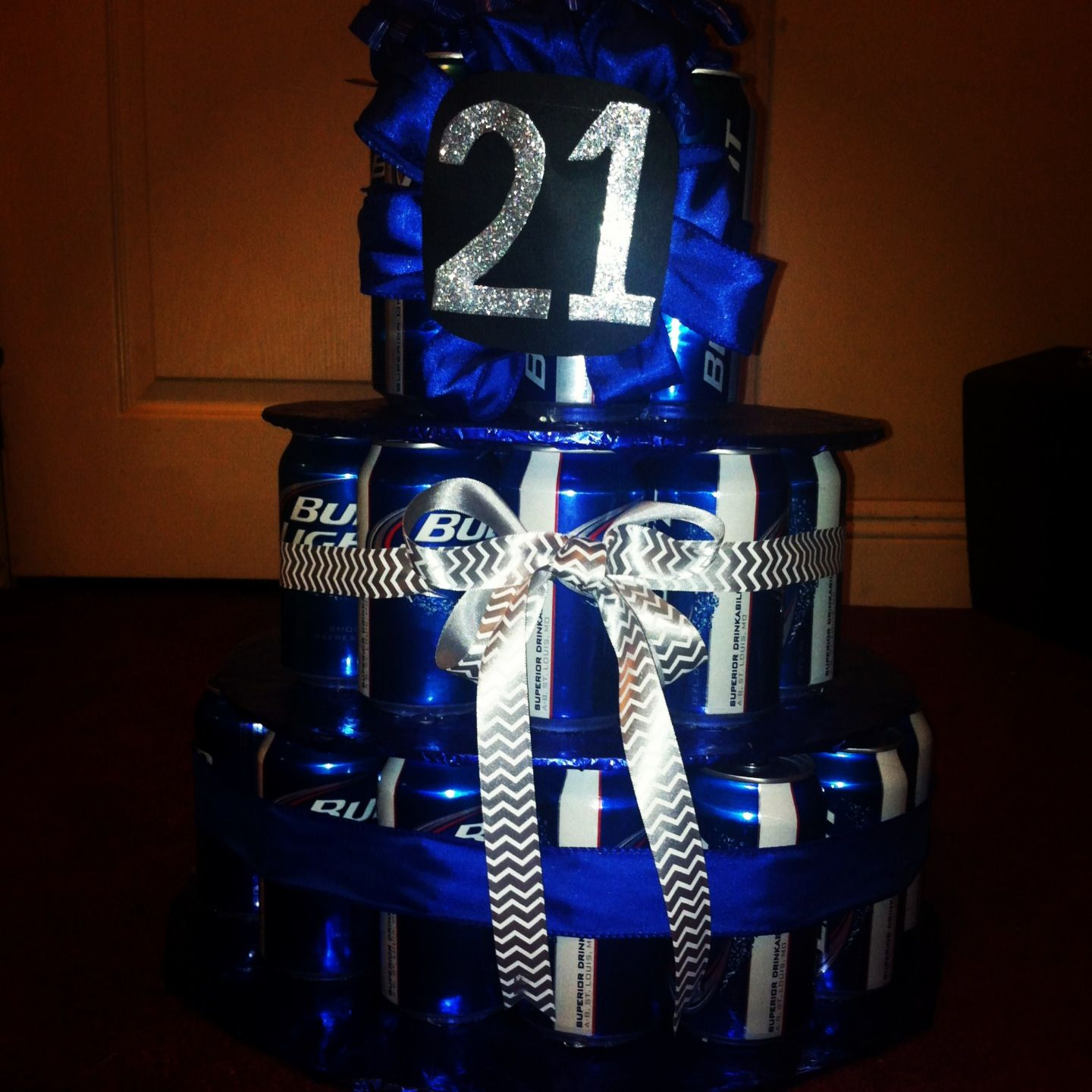 Beer cake I made for my boyfriends 21st birthday so simple For my