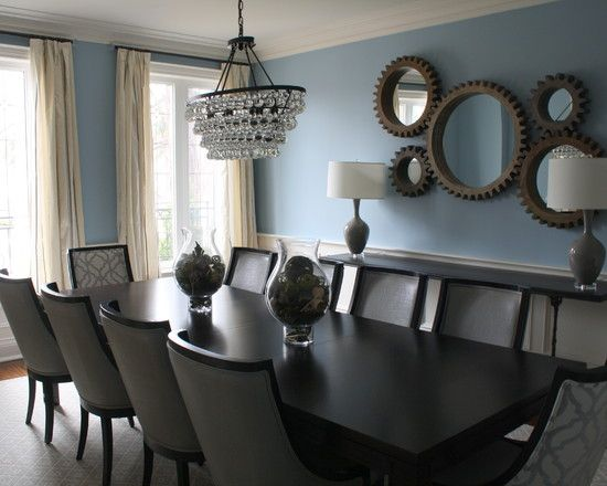 Captivating Traditional Dining Room With Decorative Wall Mirrors