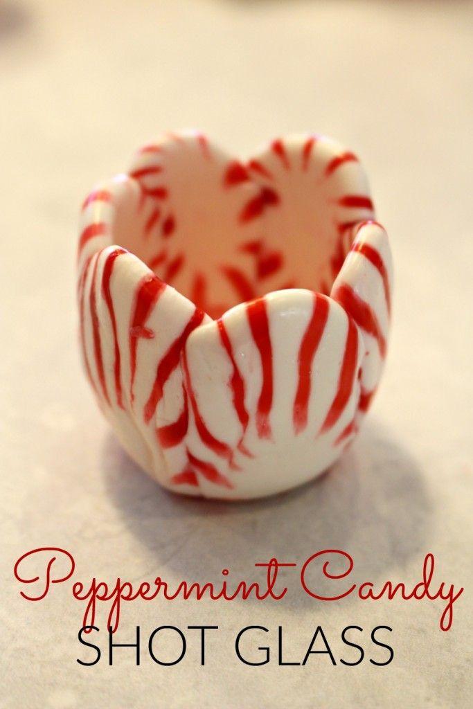 Peppermint Candy Shot Glass   Christmas   Pinterest