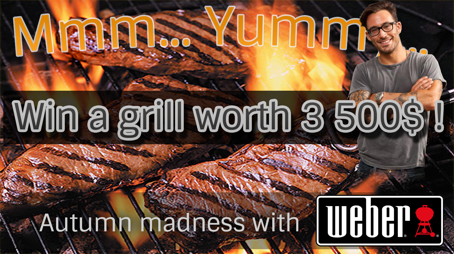 Weber Elektrogrill Usa : Win this nice grill! the grill is worth 3500$! the nice guy is not