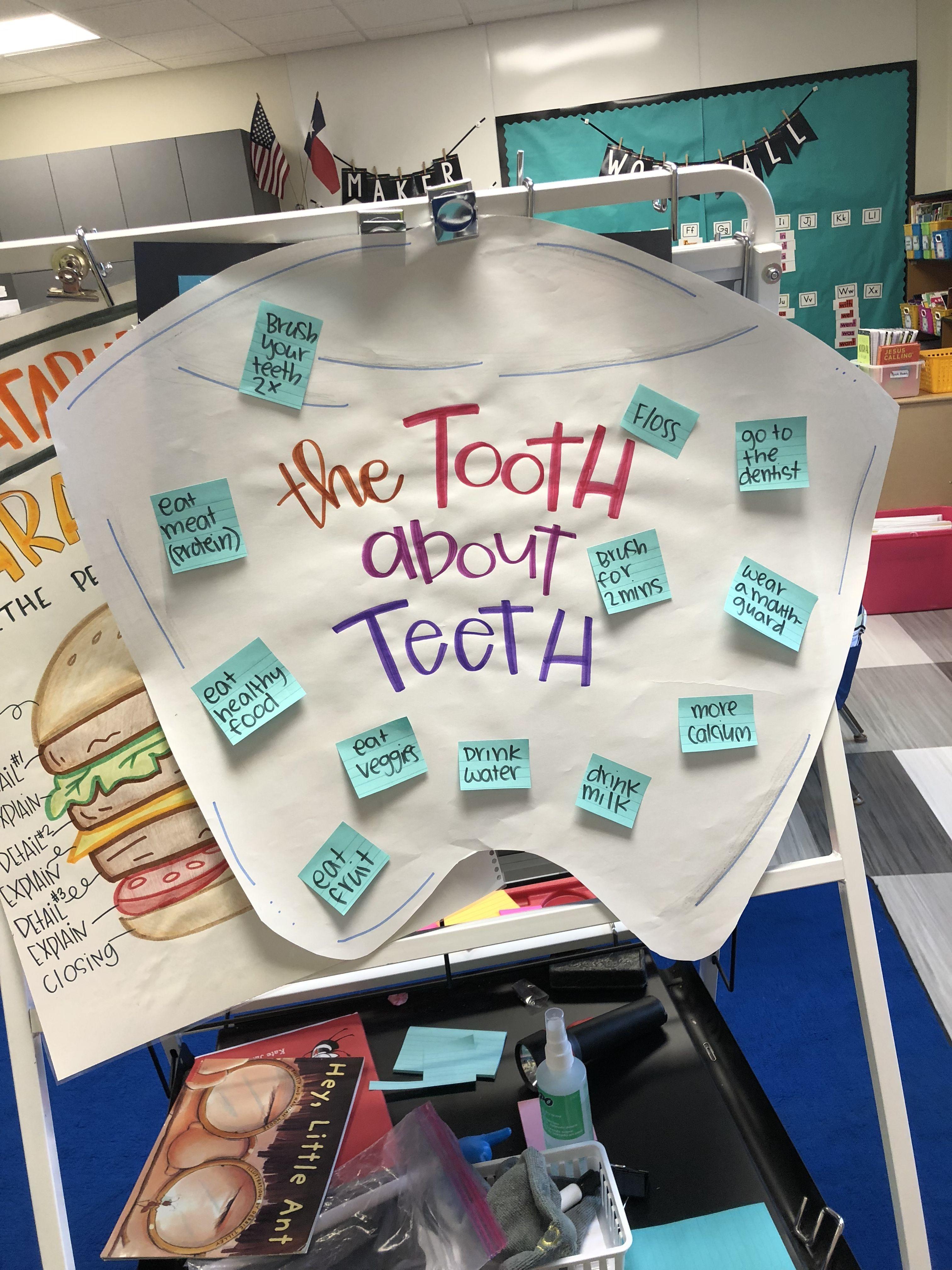 Anchor chart for dental health! Dental health, Anchor