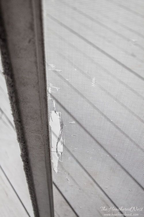 Holes Gashes Rips Or Tears In Your Window Screen Door Rescreening Is And Easy Diy Project We Ll Show You How Www Heatherednest