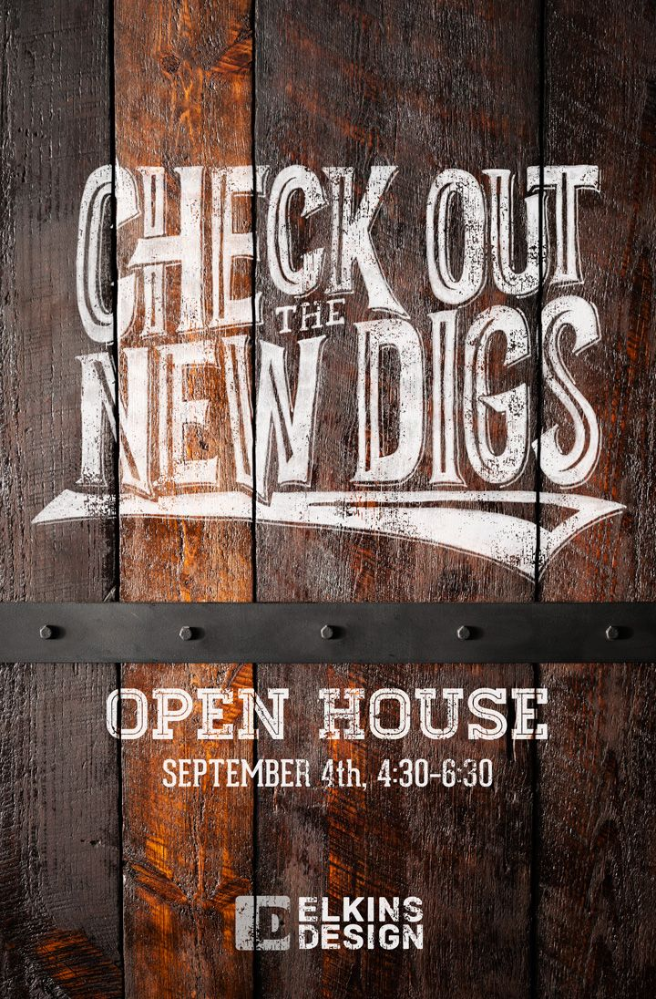 Our open house invitation, featuring some #handlettering | Graphic ...