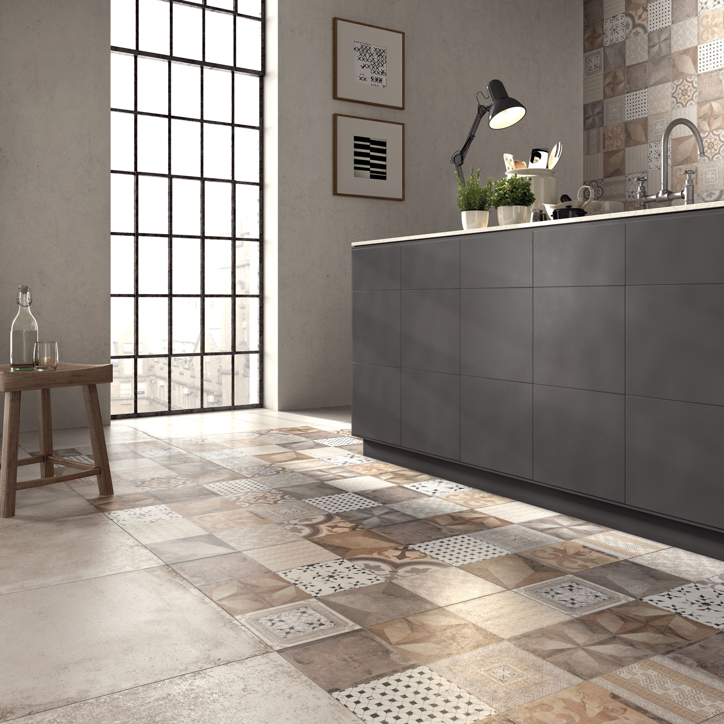 Porcelain Stoneware Wall/floor Tiles UNIKA By ABK Industrie Ceramiche