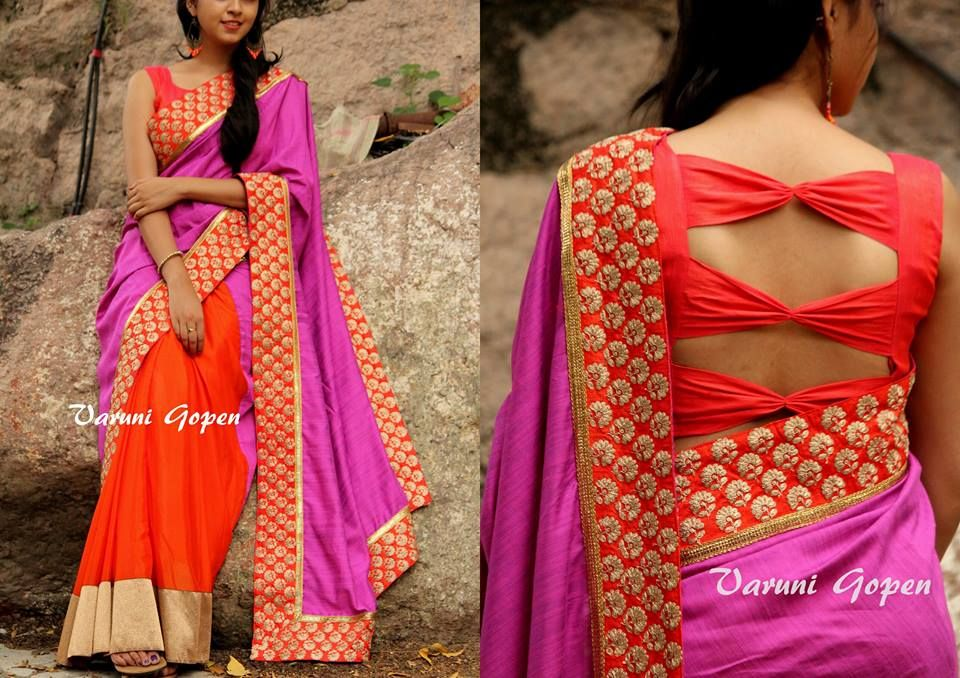 30 Trendy Blouse Back Neck Designs For Silk Sarees Keep Me Stylish Fashion Blouse Design Fancy Blouse Designs Trendy Blouse Designs