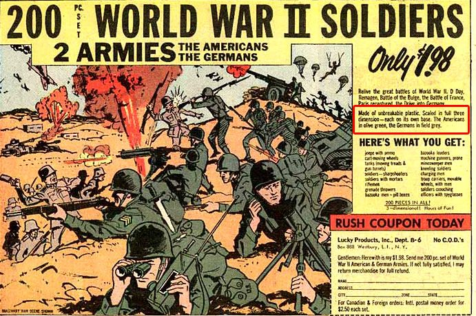 Image result for 200 World War II Soldier comic ad