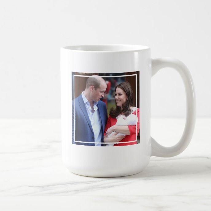 duke  duchess of cambridge  with prince louis coffee mug