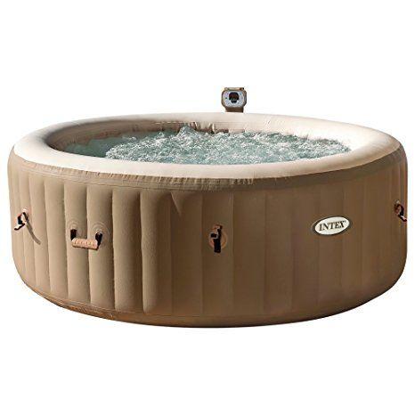 "Intex Whirlpool Pure SPA 77"" Bubble Massage, Braun, Ø 196"