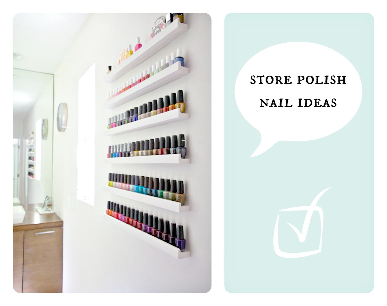 How to store nail polish? Jak przechowywać lakiery do paznokci? DIY ...