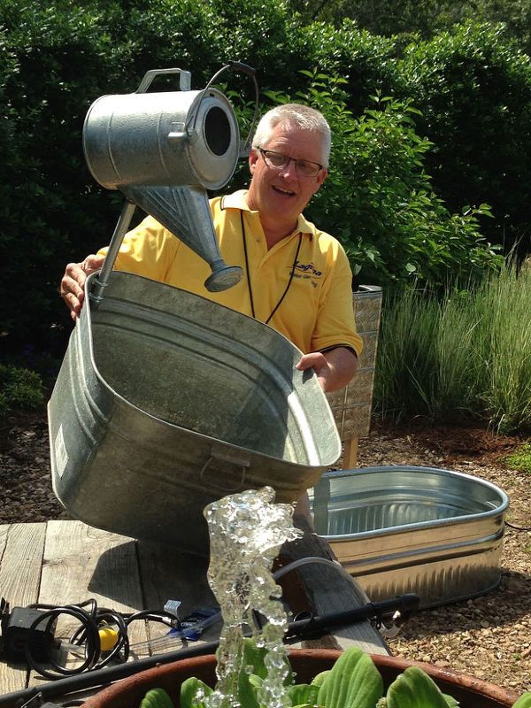 Laguna Water Features Fun With P. Allen Smith and Chris Their #waterfeatures