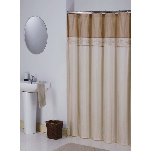 Kerala Cream Gold Shower Curtain