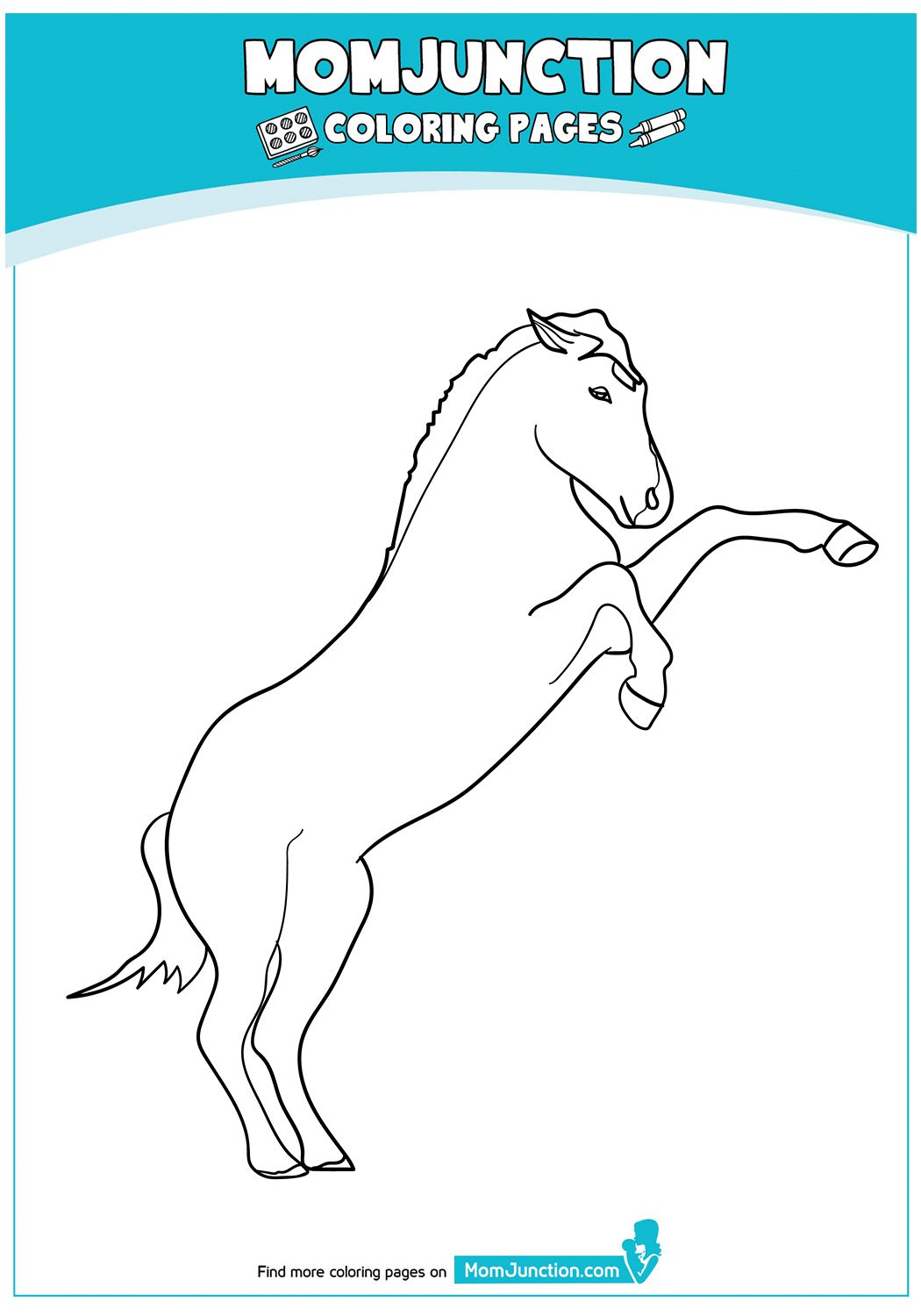Rearing Arabian Horse 17 Horse Coloring Pages Coloring Pages Horse Coloring [ 1500 x 1050 Pixel ]