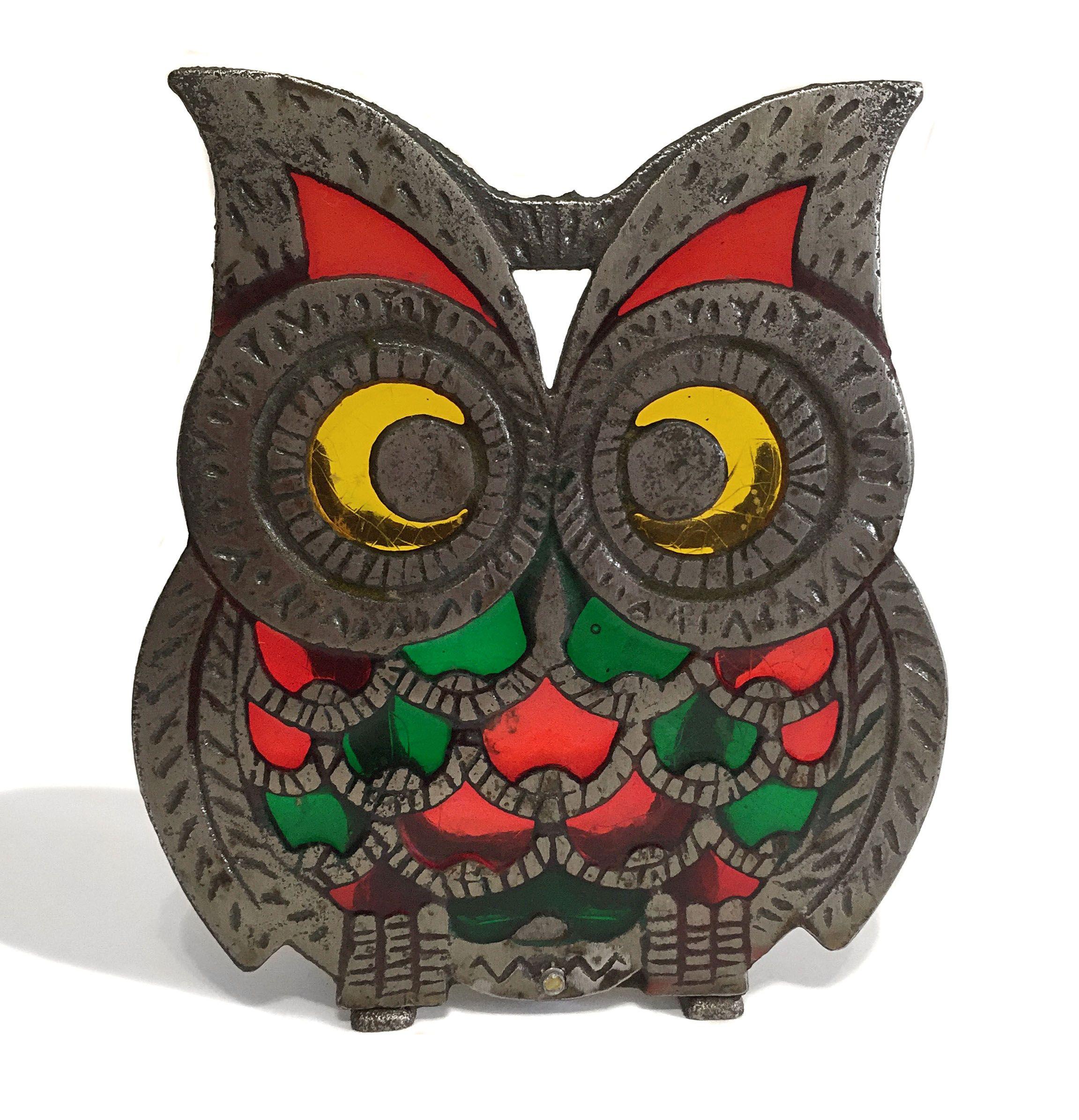 Vintage 1960s Mid Century Wooden Owl Napkin Holder CUTE!