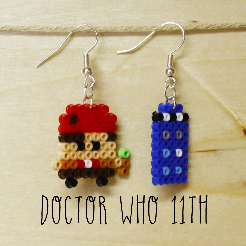 """Orecchini mini hana beads 11° dottore """"Doctor Who"""" : Orecchini di mrs-poppy"""