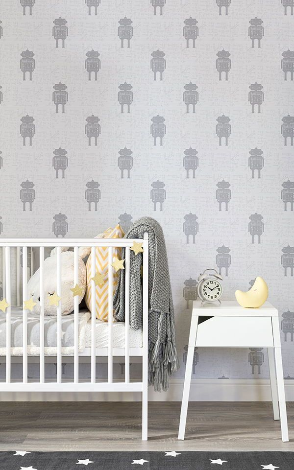 Looking For A White And Grey Nursery Wallpaper With Cool Refreshing Edge Then