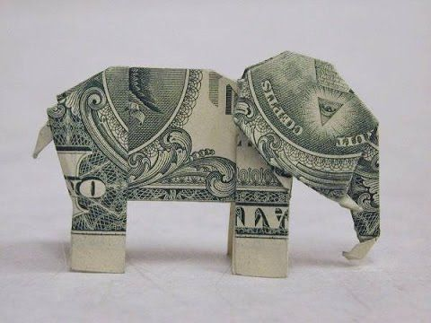 How To Make A Dollar Bill Origami Elephant Youtube The