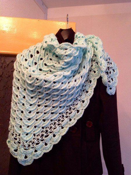 шаль по схеме плюс петли соломона шалишарфыпалантины вязание