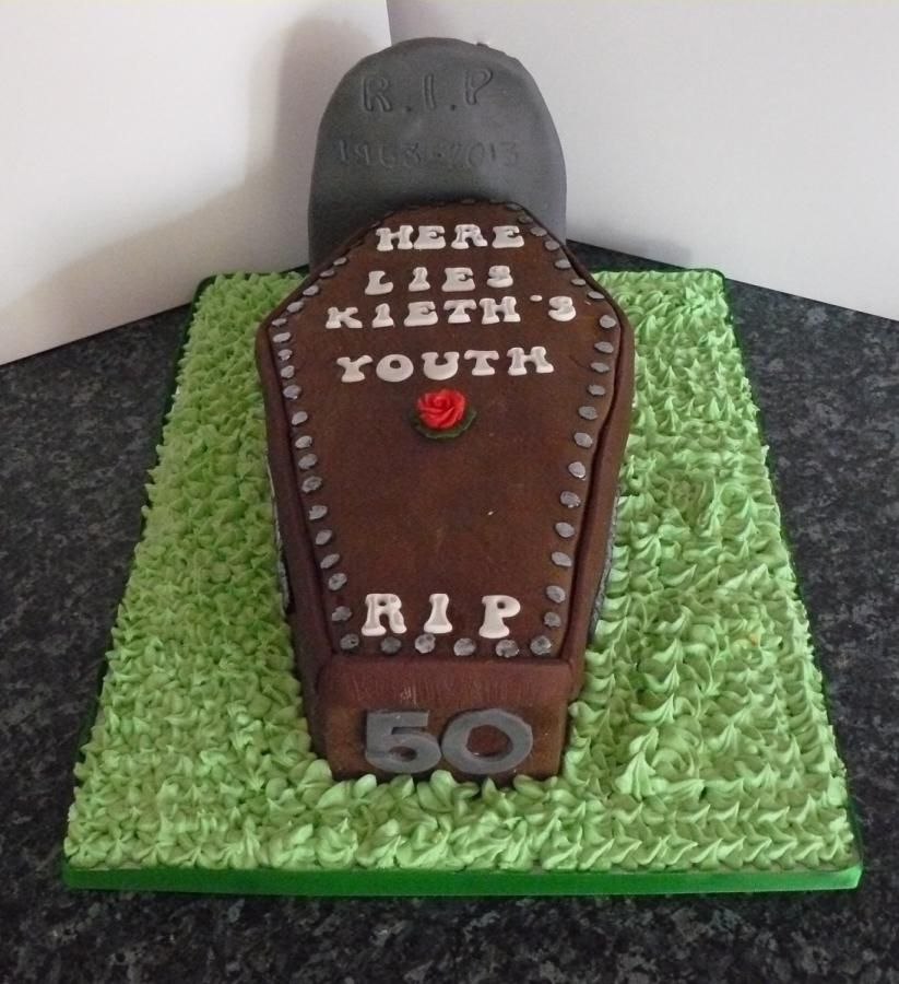 50th Birthday Party Ideas Funny: Funny 50th Coffin Cake