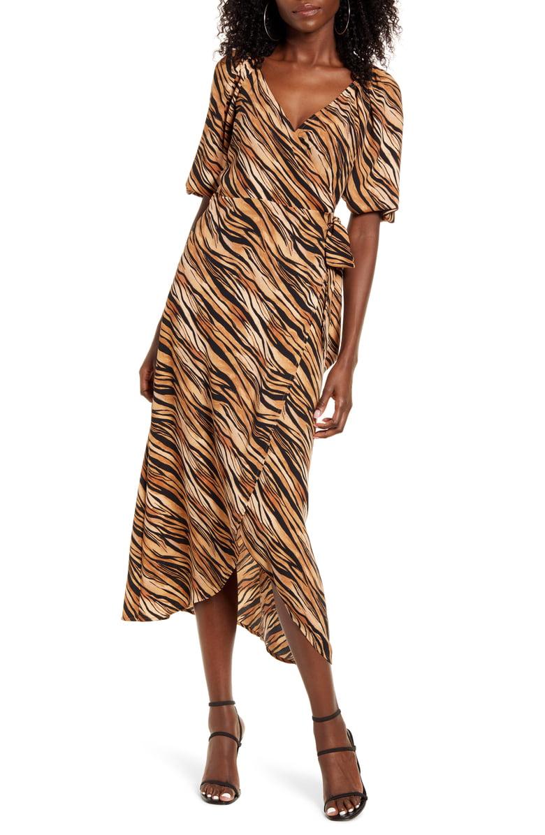 Leith Print Midi Wrap Dress Nordstrom Nordstrom Dresses Fashion Clothes Women Wrap Dress [ 1196 x 780 Pixel ]