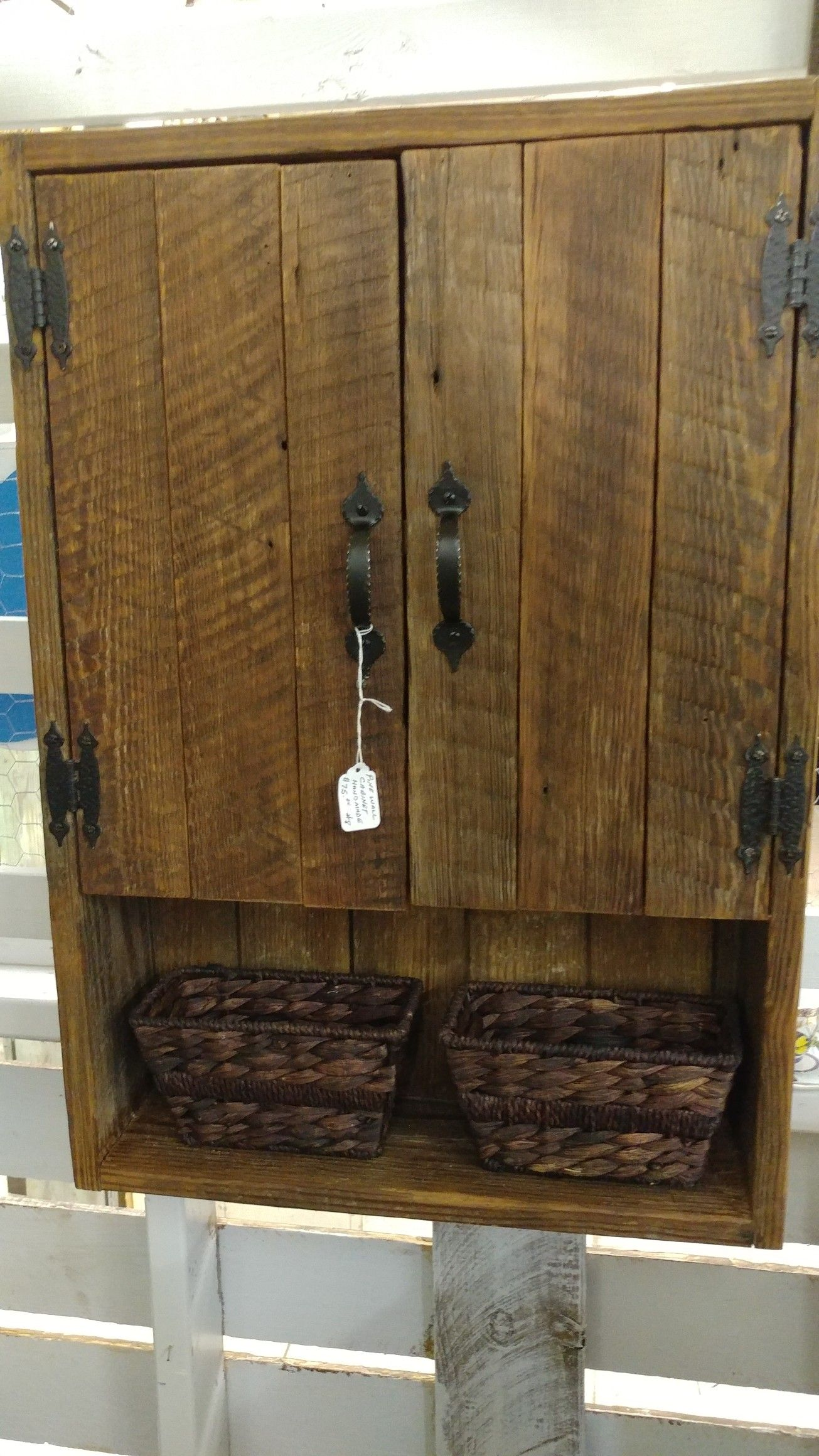 barnwood wall cabinet bathroom cabinets diy diy on wall cabinets id=37221