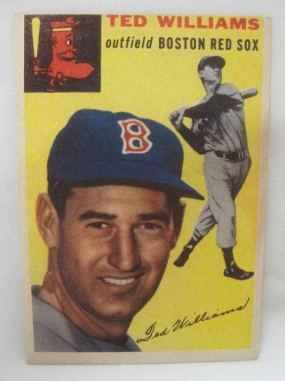 1954 TOPPS TED WILLIAMS BASEBALL CARD on | Sports ...