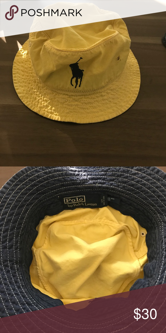 Polo Ralph Lauren Bucket Hat S M Size S M. Tiny dark mark I haven t been  able to get out (see the last picture). Polo by Ralph Lauren Accessories  Hats 04dcaa364a2d