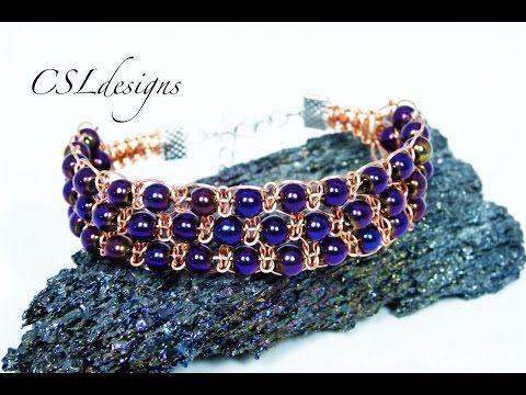 Triple row wire macrame bracelet - YouTube