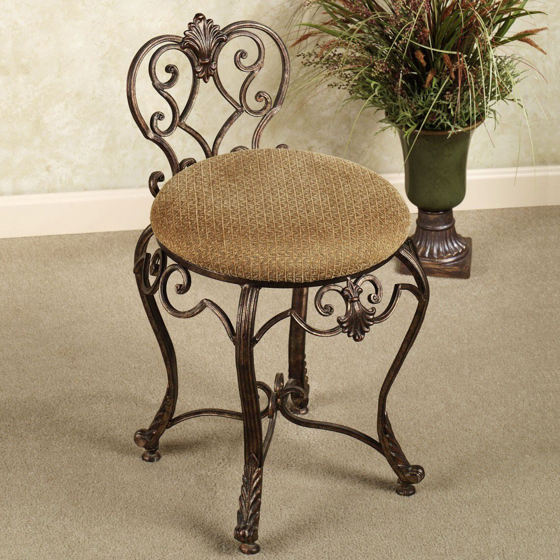 Wrought Iron Vanity vanity chair | estructuras y muebles metálicos | pinterest