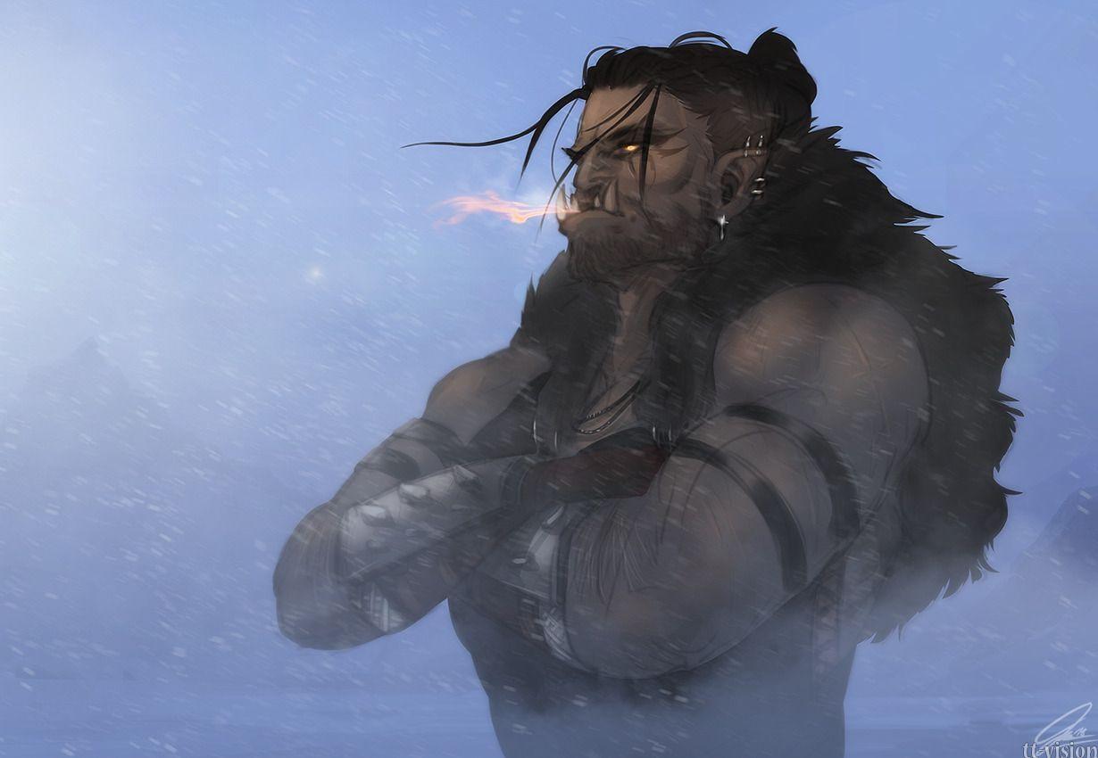 Half-orc; Orc; Shirtless Fantasy Men; Pathfinder; D
