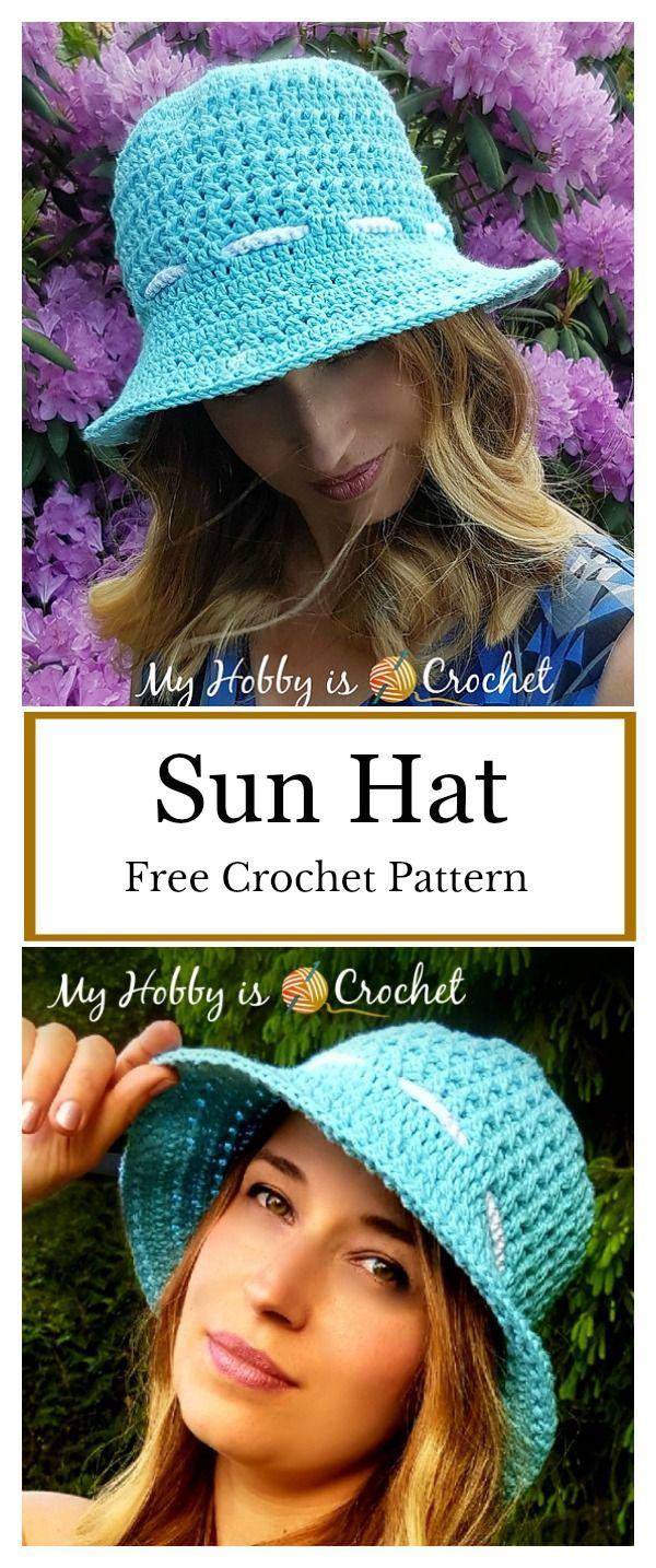 Sun Hat Free Crochet Pattern | crochet | Pinterest | Crochet gratis ...