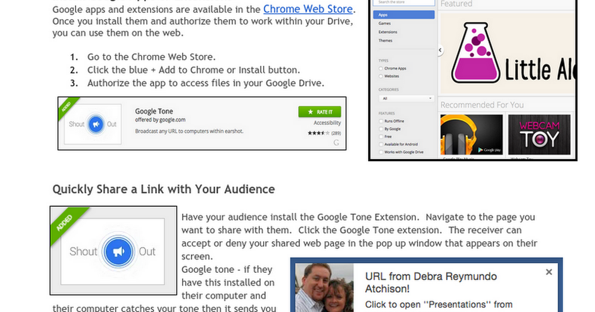Fun, Flair & Functionality w/Chrome Extensions & Apps