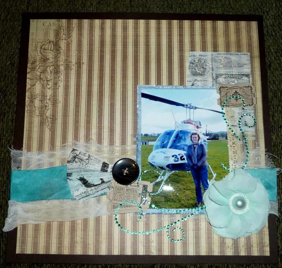 Helicopter. KaiserCraft paper and bling, Collections