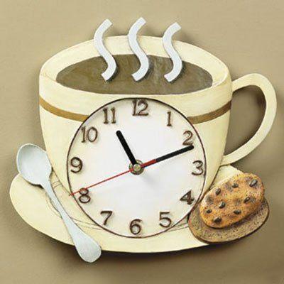 Coffee Cup Latte Cucino Kitchen Wall Clock Otc Http Www